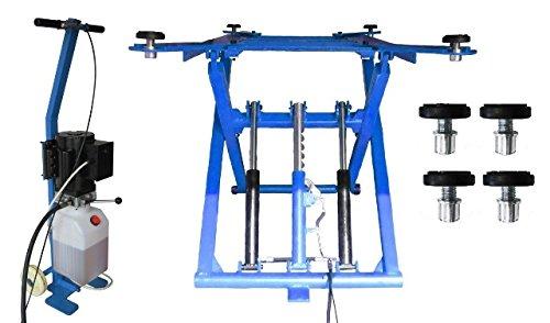 OnlineMoto24 Mobile Scherenhebebühne (DSLP 6062) Modell 2018 inkl. Zubehör (blau-ohne Öl-220 V)