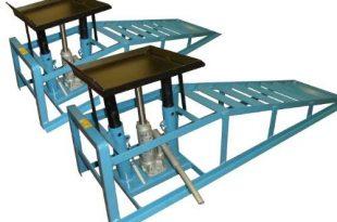 2x Auffahrrampen 2 Hydraulik Wagenheber Hebebuehne Stahl fuer PKW Auto 310x205 - 2x Auffahrrampen + 2 Hydraulik-Wagenheber Hebebühne Stahl für PKW Auto Rampe/geeignet für PKW und Kleintransporter/Reifenbreite bis 225 mm