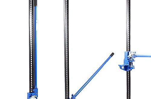 BITUXX® Offroad Wagenheber Geländewagen SUV Car Farm Jack 3000 kg 3T Hebebühne PKW ATV Heber Belastbar bis 3000 kg / 3 Tonnen/Hubhöhe 132 cm Blau