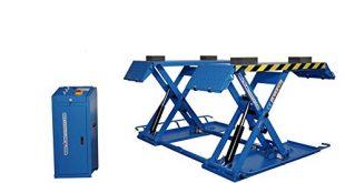 ALWO Fahrbare Scherenhebebühne BLAU bis 3000kg mit Umlenkhilfe und Mobilkit